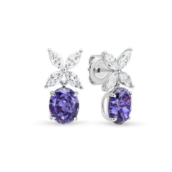 Penelope Tanzanite Purple Cubic Zirconia Earrings LR-ED79-Earrings