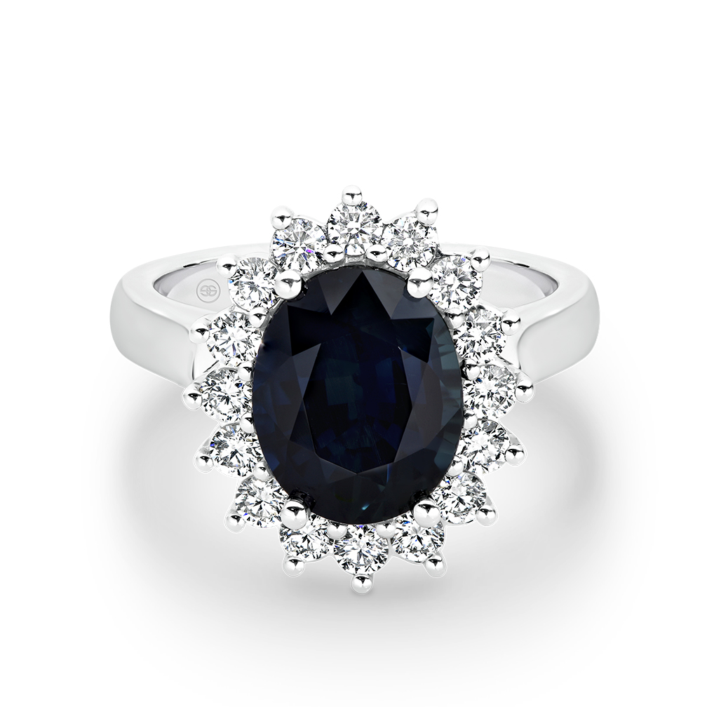 Icon Sapphire and Diamond Cluster Ring