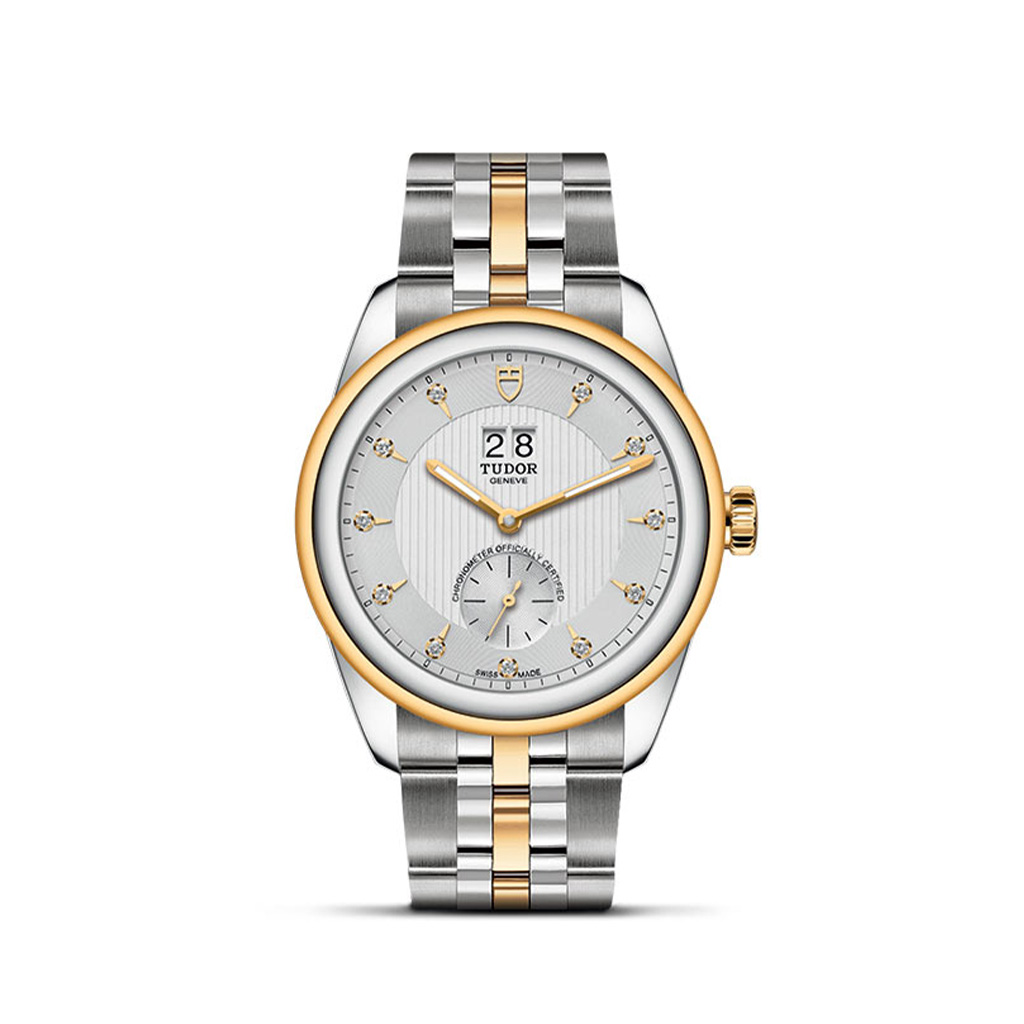 Tudor Glamour Double Date 42mm Steel and Yellow Gold Bracelet