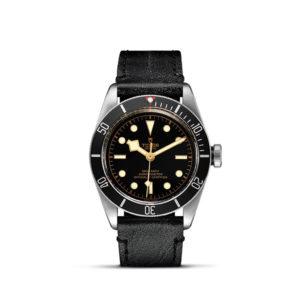 Tudor Black Bay 41mm Black Aged Leather Strap