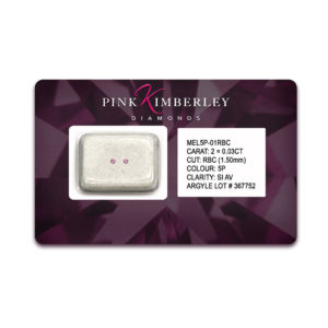 Pink Kimberley Diamonds Loose Argyle Pink Diamond Seal | MEL5P-01RBC-1.50mm