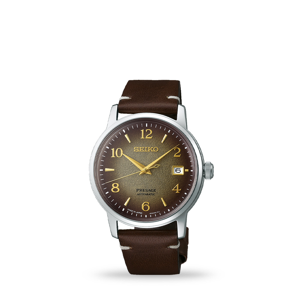 Seiko Presage Journey Cocktail Limited Edition 38mm Brown Leather Band