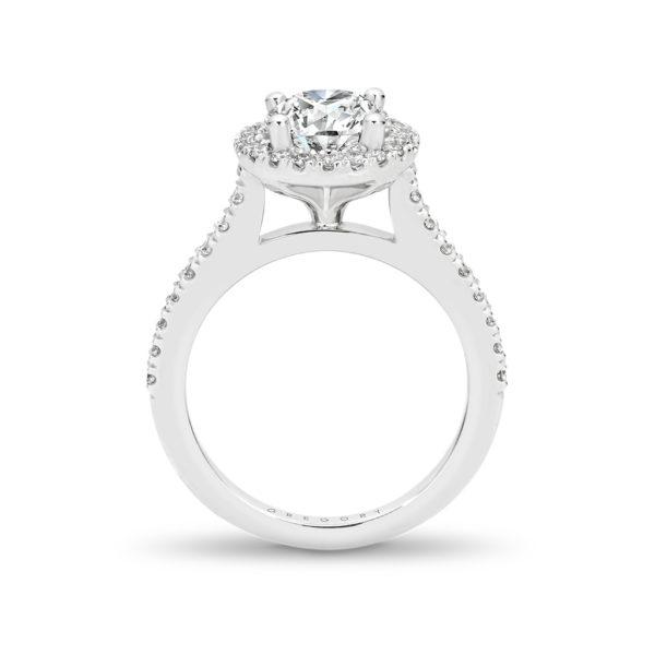 Round Brilliant Cut Halo Diamond Engagement Ring