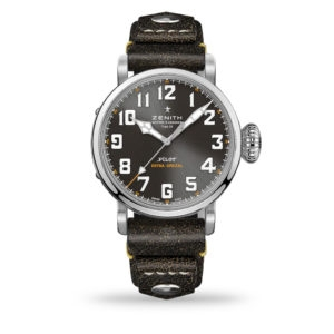 Zenith Pilot Type 20 Rescue, 45mm brushed steel case, Leather strap | 03.2434.679/20.I010