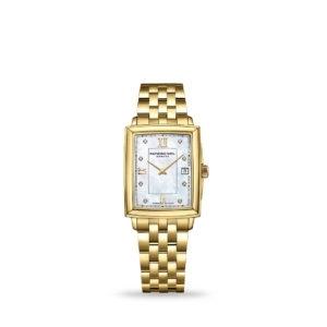 Raymond Weil Toccata Gold Diamond Mother-of-Pearl Quartz 23mm Bracelet | Model: 5925-p-00995