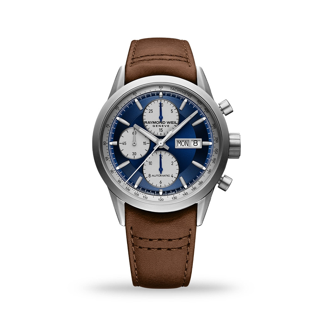Raymond Weil Freelancer Automatic Blue Dial 42mm Leather Strap