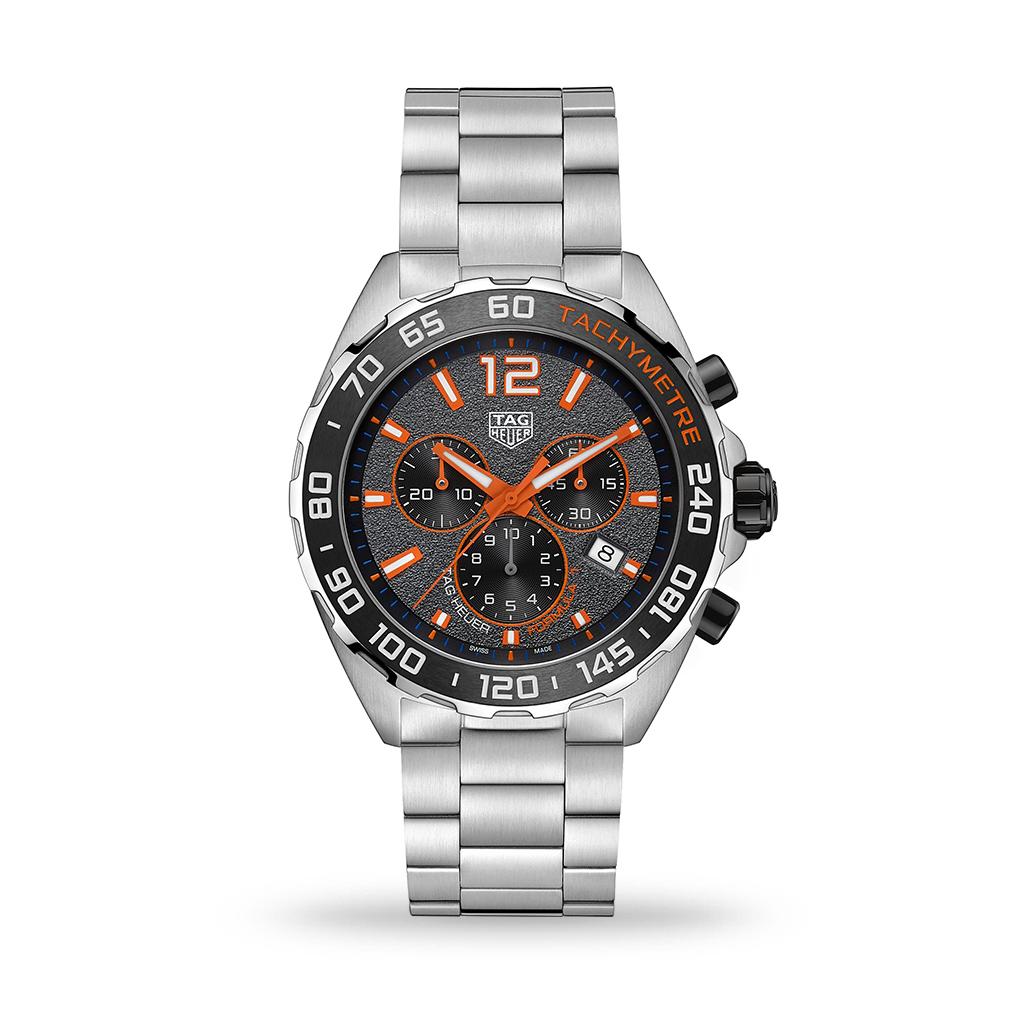 TAG Heuer Formula 1 Quartz Chronograph Grey Dial 43mm Bracelet