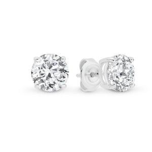 Leyla Rose Harlow Cubic Zirconia Four Claw Stud Earrings- Grand | LR-ES31-EARRINGS