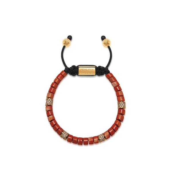 Nialaya The Tulum Collection - Red Ceramic and Gold CZ
