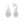 Sarah Rose Round Halo Cubic Zirconia Earrings