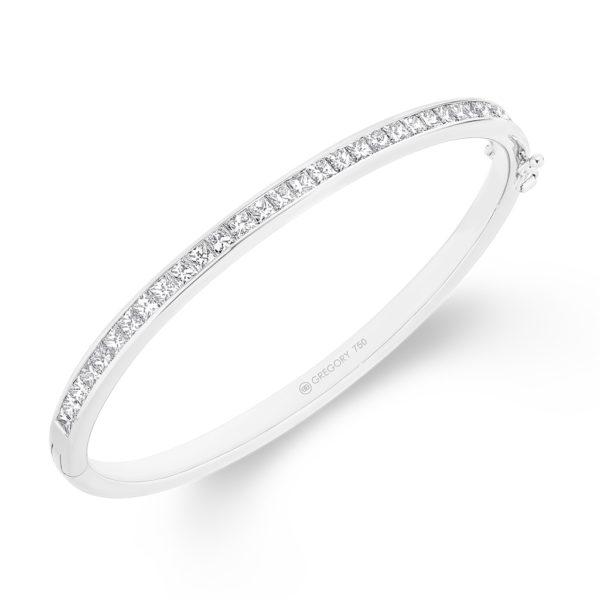Gregory Jewellers Princess Cut Channel Set Diamond Bangle | P58
