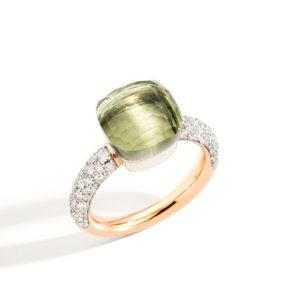 Pomellato Nudo Classic Diamonds & Prasiolite Ring | PAB0040_O6WHR_DB0TB