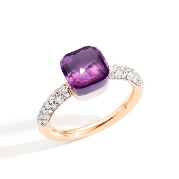 Pomellato Nudo Petit Diamonds & Amethyst Ring | PAB7040_O6WHR_DB0OI