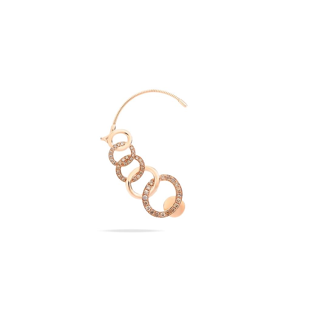 Pomellato Brera Diamond Cuff Earrings Right Side