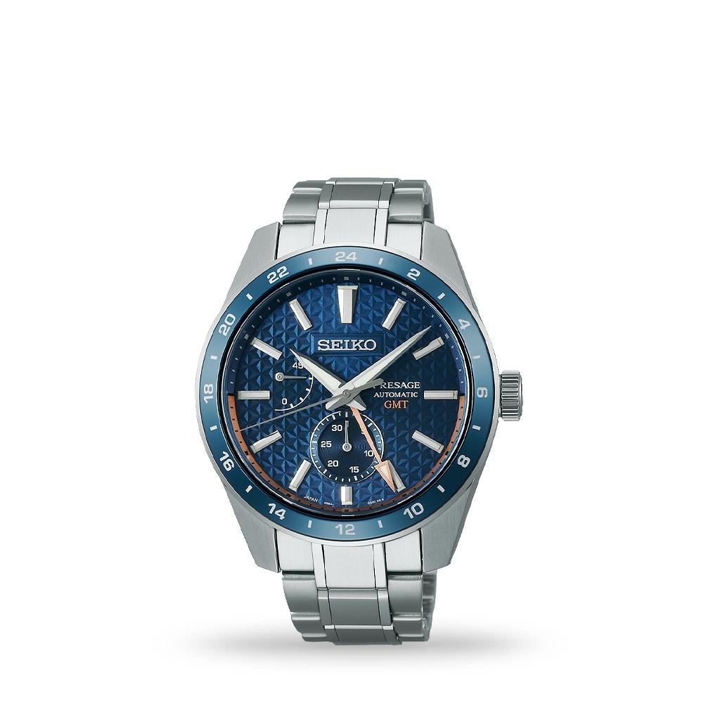 Seiko Presage Sharp Edge Series Automatic 42mm Blue Dial Bracelet