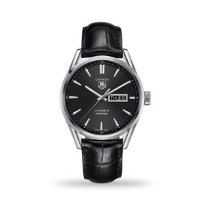 TAG Heuer Carrera Automatic Black Dial 41mm Leather Band | WAR201A.FC6266