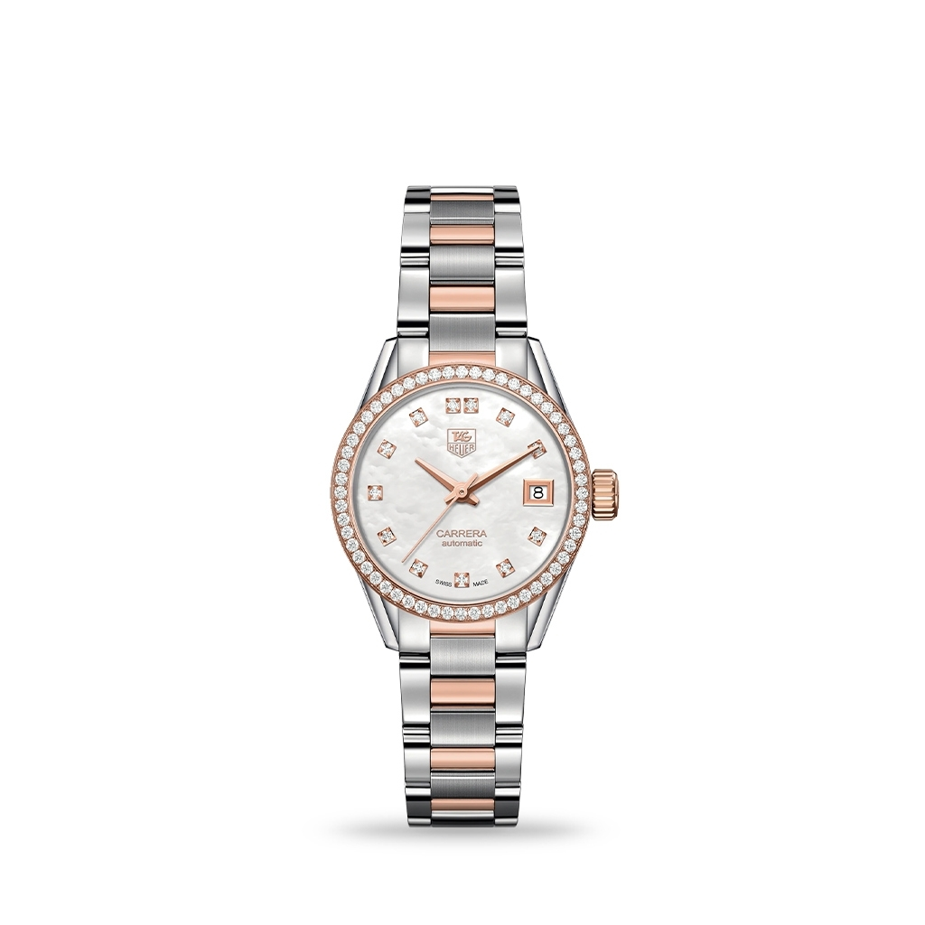 TAG Heuer Carrera Automatic mother-of-pearl 18K 5N Rose 28mm Bracelet