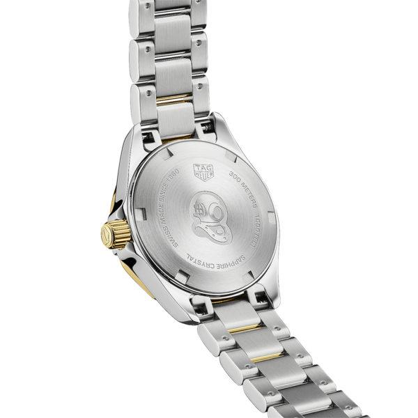 TAG Heuer Aquaracer 27mm Quartz 18k 2n Gold plated White mother-of-pearl Bracelet | WBD1422.BB0321