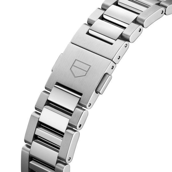TAG Heuer 36mm carrera bracelet folding clasp push buttons steel