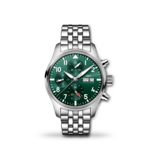 IWC Pilot's Automatic Chronograph Green Dial 41mm Bracelet | IW388104