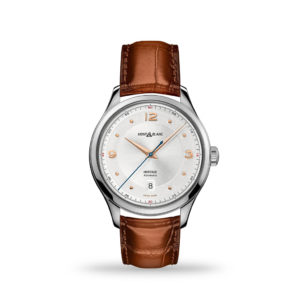 Montblanc Heritage Automatic Silver-White Dial 40mm Brown Leather Band | 128672