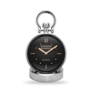 Panerai Table Clock 65mm Polished Steel | PAM00641