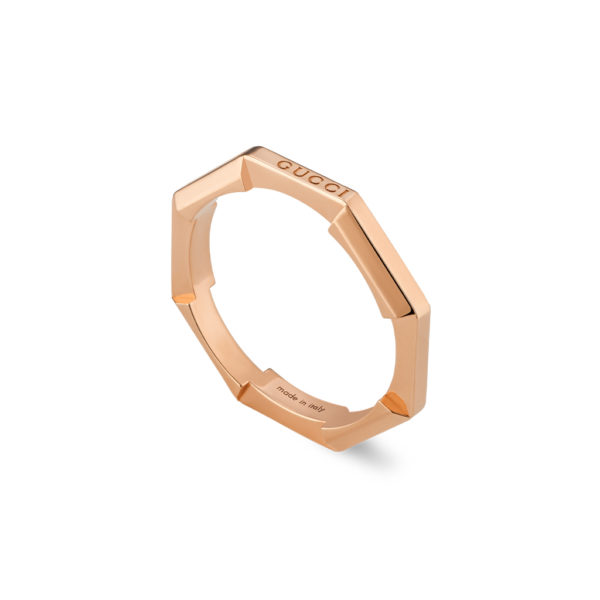 Gucci Link to Love ring in 18k Rose Gold | YBC662194002