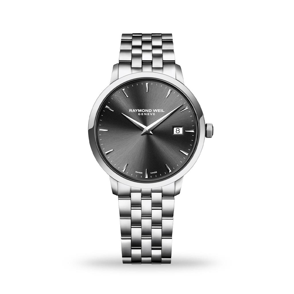 Raymond Weil Toccata Quartz 39mm Grey Dial Bracelet