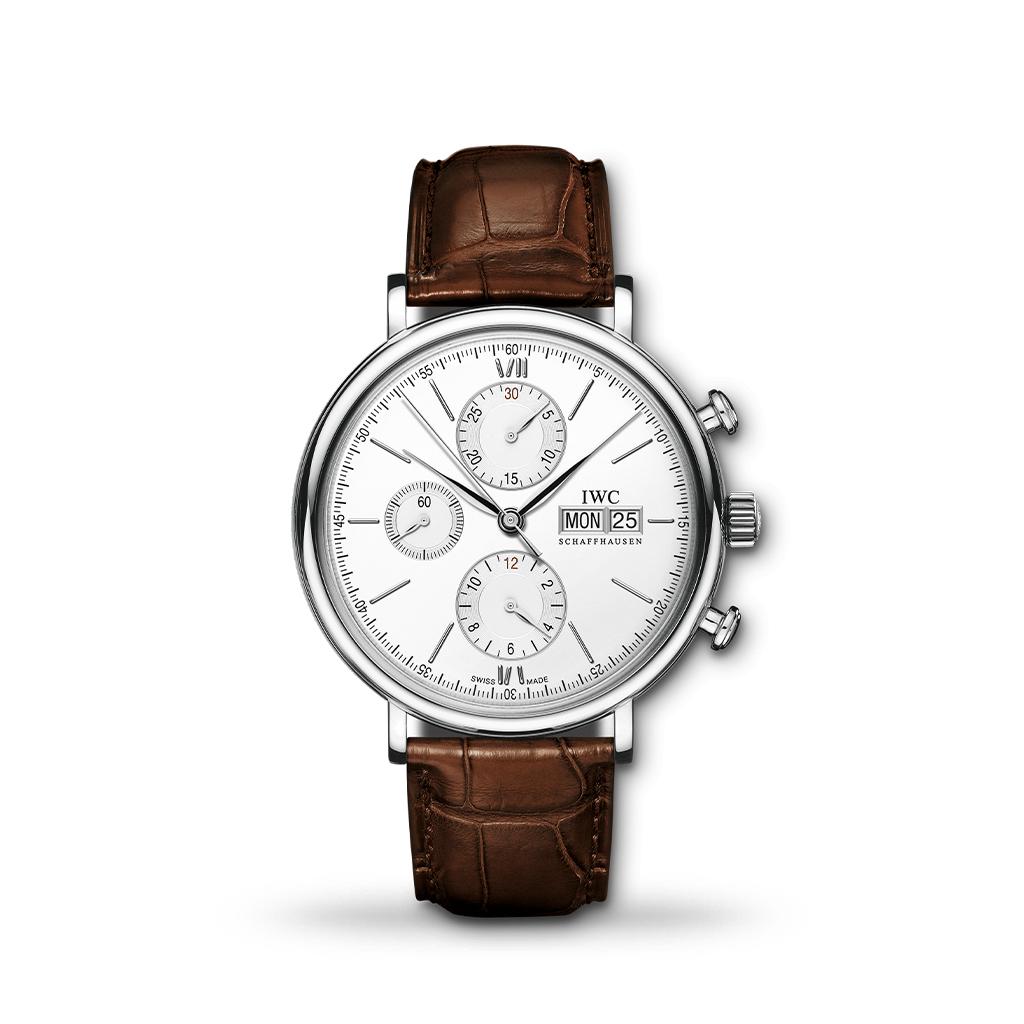 IWC Portofino Chronograph Automatic 42mm Brown Leather
