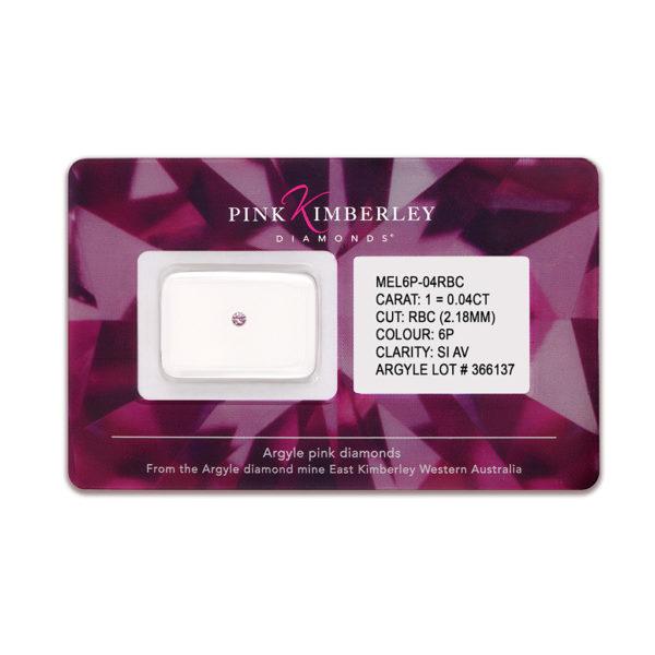 Loose Argyle Pink Diamonds Seal 1=0.04ct 6P/SIAV | 318872 ARGYLE LOT# 366137