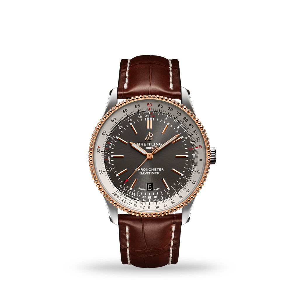 Breitling Navitimer Automatic 41mm Stainless Steel & 18k Red Gold Leather Band