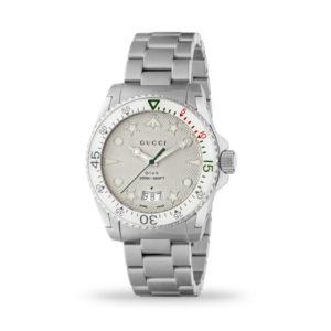 Gucci Dive 40mm Quartz White Bezel Steel Case and Bracelet | YA136336