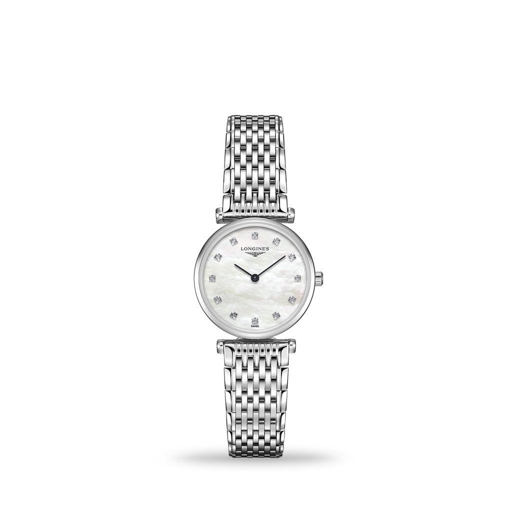 Longines La Grande Classique De Longines White Mother-of-Pearl 24mm Bracelet