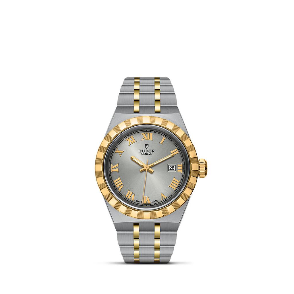 Tudor Royal Automatic Silver Sunray Dial 28mm Bracelet