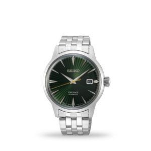 Seiko Presage Cocktail Time Automatic 41mm Green Dial Bracelet   SRPE15J