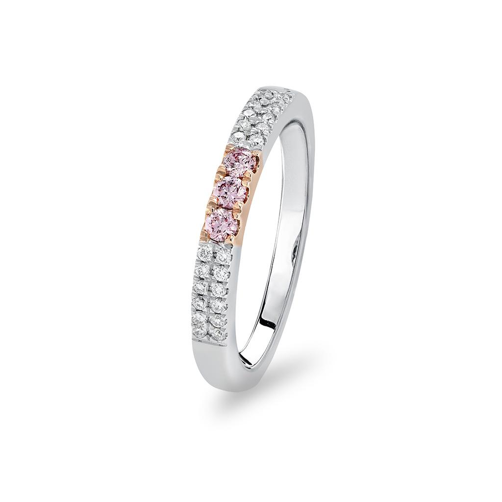 Kimberley White & Argyle Pink Diamond Swoon Wedder